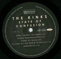 THE KINKS State Of Confusion Vinyl Record LP Velvel 2008